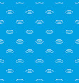 lips with lines drawn around it pattern seamless vector image vector image