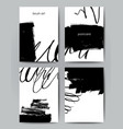 modern brush postcard template vector image vector image