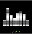 music equalizer it is white icon vector image vector image