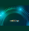 neon led lights abstract circle tech background vector image vector image
