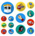 parking for cars flat icons in set collection for vector image vector image