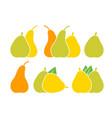 pear logo vector image vector image