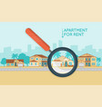 real estate concept with number of cottages on vector image vector image