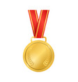 realistic detailed 3d champion gold medal empty vector image