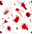 red blood or paint splatters splash spot seamless vector image vector image