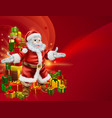 santa and presents background vector image vector image