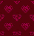 Seamless pattern delicate sweet lace pink heart