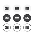 set 3 simple design credit card icons rounded vector image