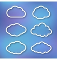 Set of clouds linear vector image vector image