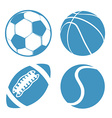 set sports balls soccer basketball american vector image