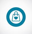 shopping bag icon bold blue circle border vector image