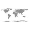 soccer ball world continent map mosaic vector image