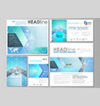 social media posts set abstract flat design vector image