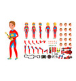 sport car racer male red uniform rally vector image vector image