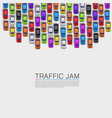 traffic jam on the road vector image vector image