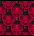 trendy black and red geometric 3d seamless vector image