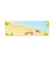 Tropic Island sand beach and azure sea vector image