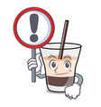with sign white russian character cartoon vector image vector image