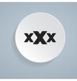 xXx icon vector image vector image