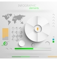 set of abstract paper infographic elements for vector image