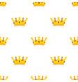 cartoon crown seamless pattern flat style vector image