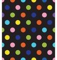 black polka dot seamless pattern vector image