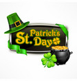 st patrick s day badge vector image