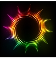 Abstract rainbow neon spirals cosmic sun vector image