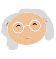 avatar of a grandmother vector image vector image