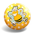 Bee badge vector image vector image