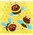 bee with glasses vector image vector image