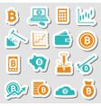 bitcoin stickers vector image vector image