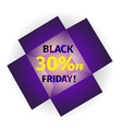 black friday banner in the form open box vector image vector image