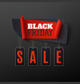 black friday sale abstract banner on black vector image vector image