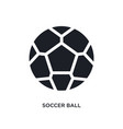 black soccer ball isolated icon simple element vector image vector image