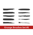 brushes collection vector image vector image
