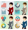Business Woman Presenting Proposal vector image