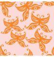 butterflies seamless background vector image vector image