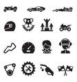 car racing icon set vector image vector image