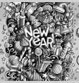 cartoon doodles new year vector image vector image