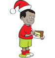 Cartoon Santa Hat Boy vector image vector image