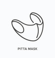 civilian pitta mask line icon outline vector image vector image