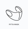civilian pitta mask line icon outline vector image vector image
