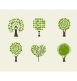 Collection of green tree - logos and icons vector image
