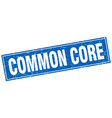 common core square stamp vector image vector image