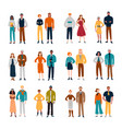 couples diverse people friends pairs vector image vector image
