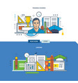 courses and exercises employment and learning vector image vector image