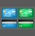 creative of bank plastic vector image