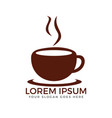 cup of coffee logo design vector image
