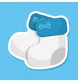 cute baby socks icon vector image